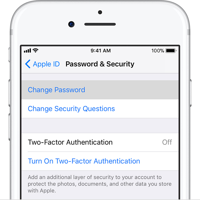 how to change email password on my iphone 6s