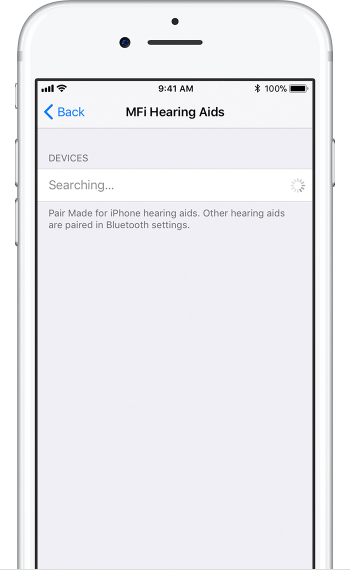 Use Made For Iphone Hearing Aids Apple Support