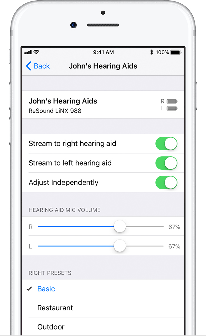 use made for iphone hearing aids apple support control on lock screen quickly make preset and volume adjustments on your hearing aid right from the lock screen on your ios device