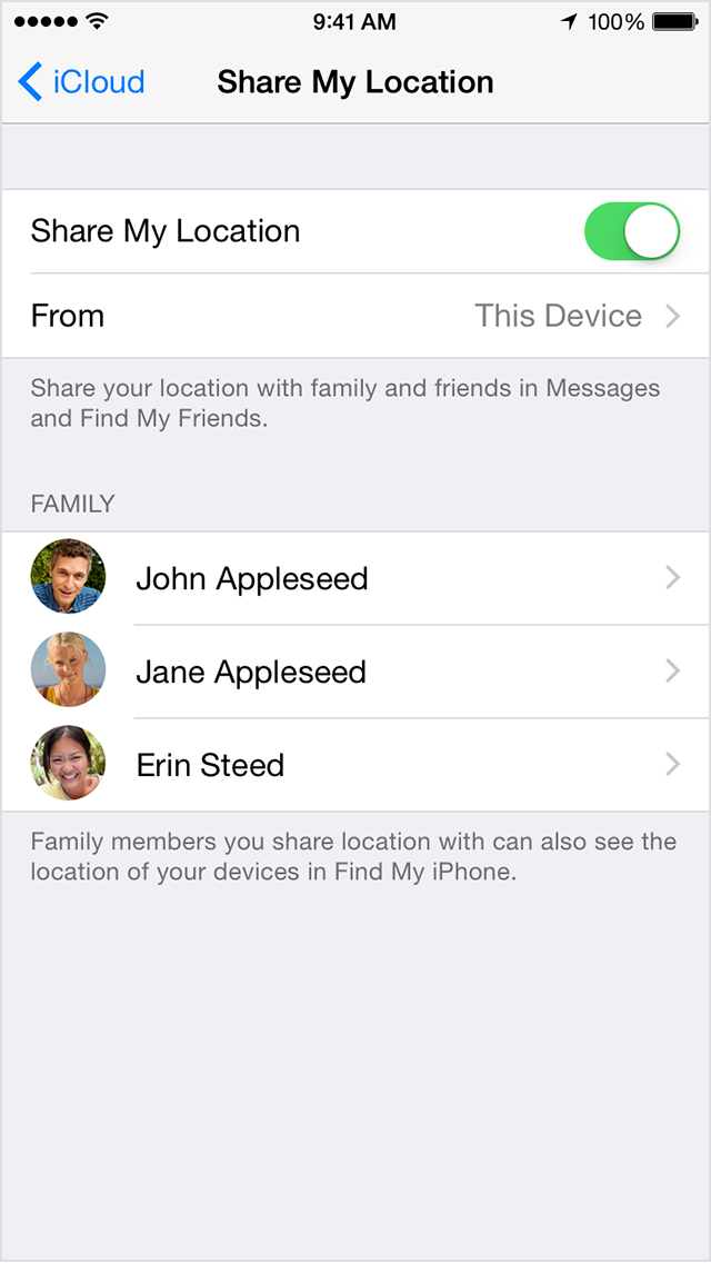 how to turn off icloud sharing