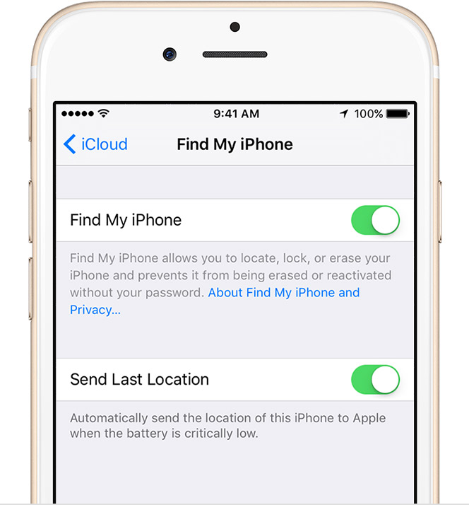 find my iphone in settings set up find my iphone and mac apple support 16926