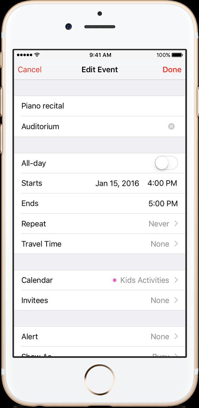 Adding photo to Calendar Event