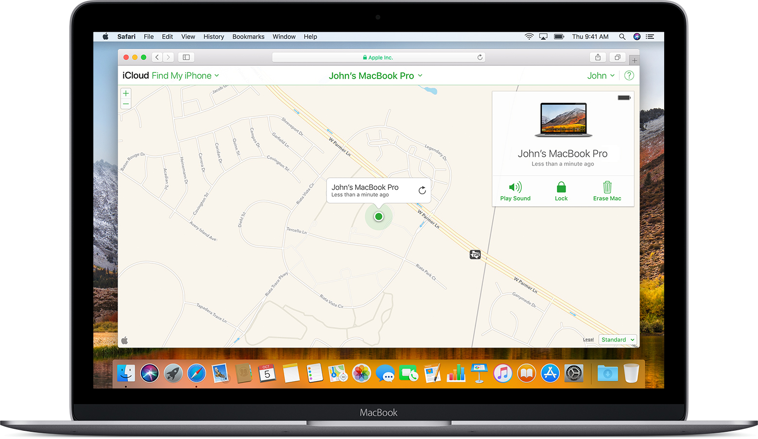localiser iphone mac os x