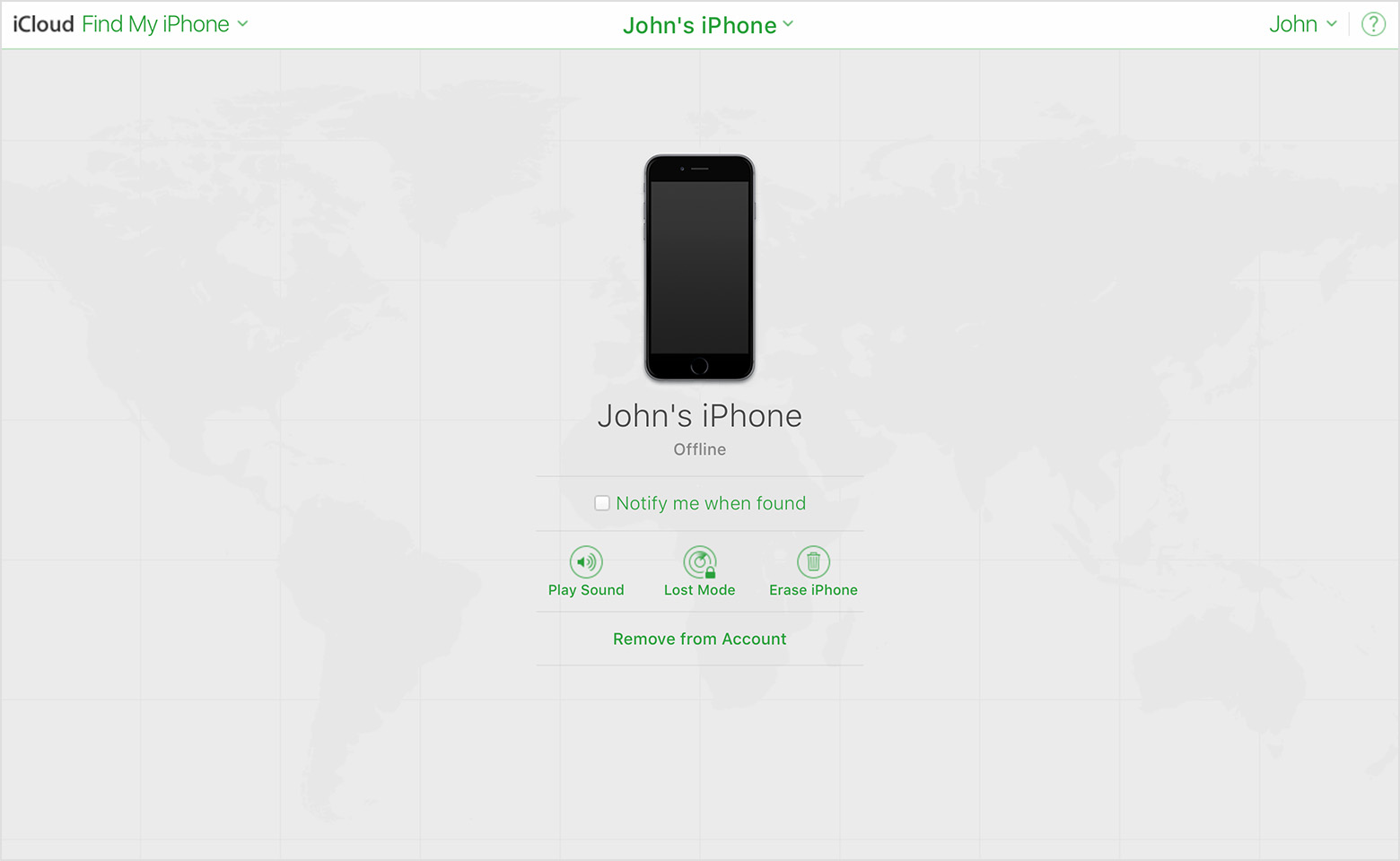 Device Offline In Find My Iphone