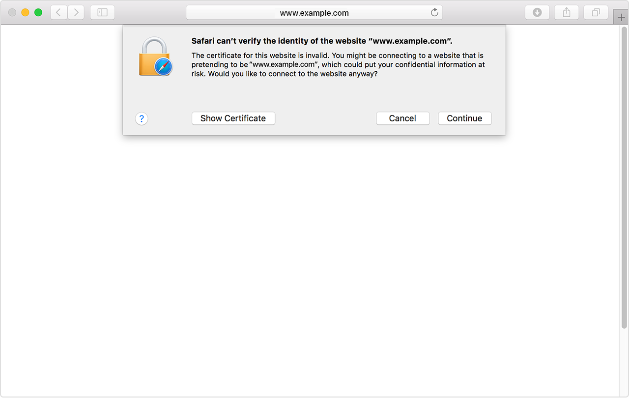 Apple update on icloud security apple support secure youll see a message that says safari cant verify the identity of the website if you see this message dont proceed or attempt to sign in 1betcityfo Gallery