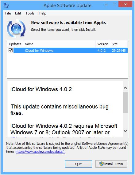 Apple software update windows