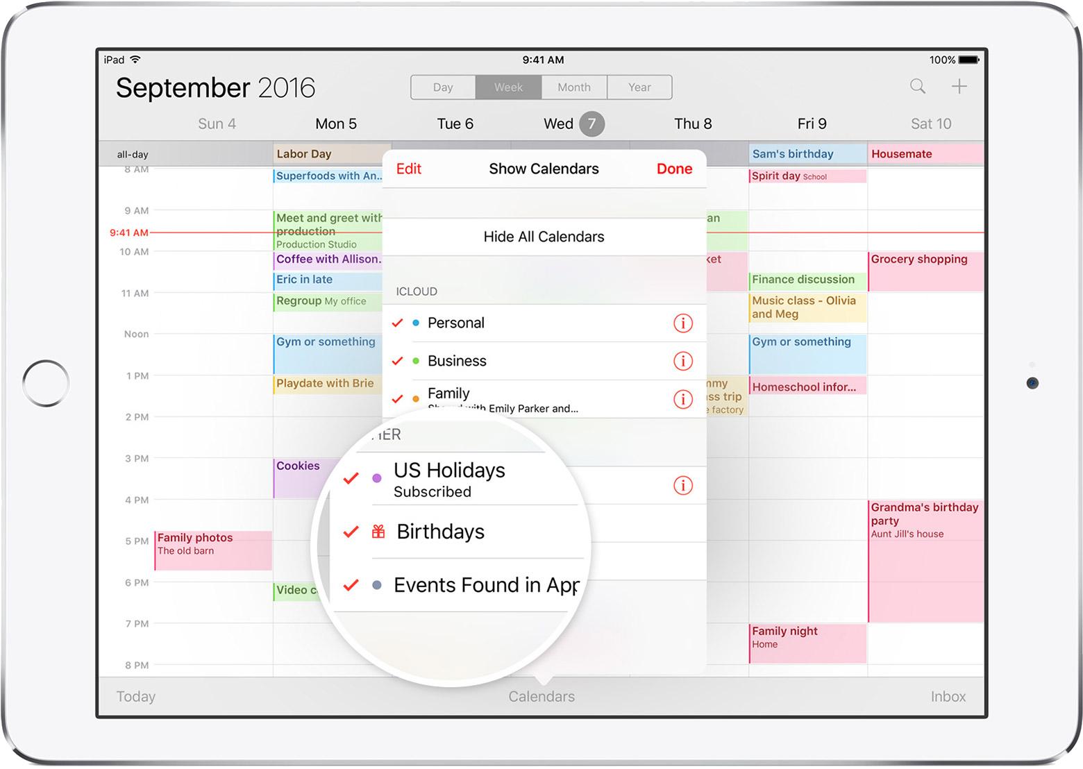 Family Calendar Sharing : Family sharing apple support