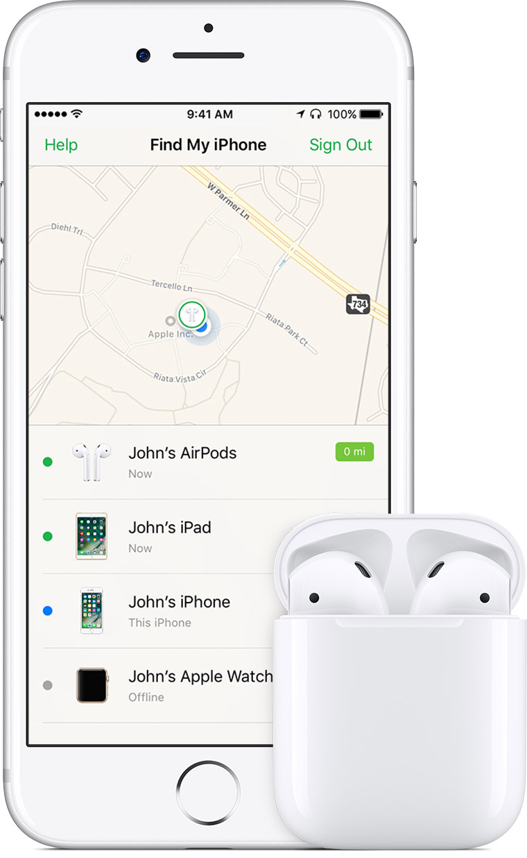 apple find my iphone airpods をなくした場合 apple サポート 1679