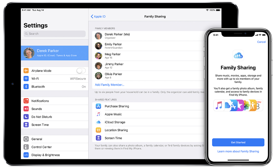 set up family sharing apple support
