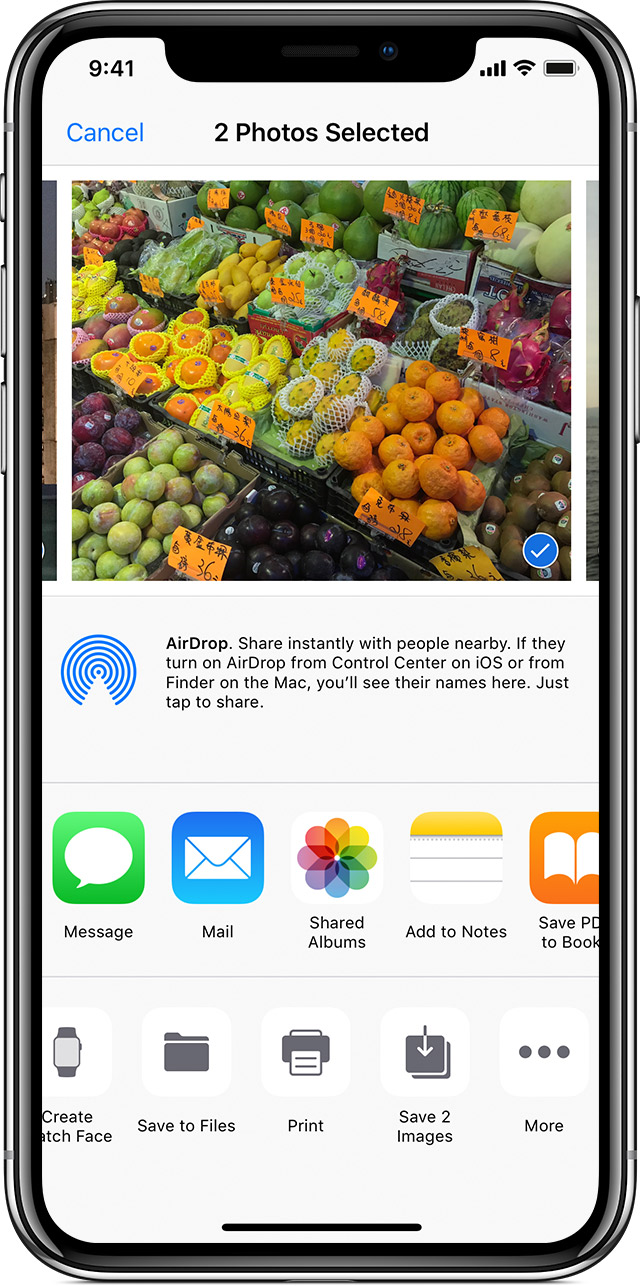 selecting photos from a Shared Album to save on iPhone