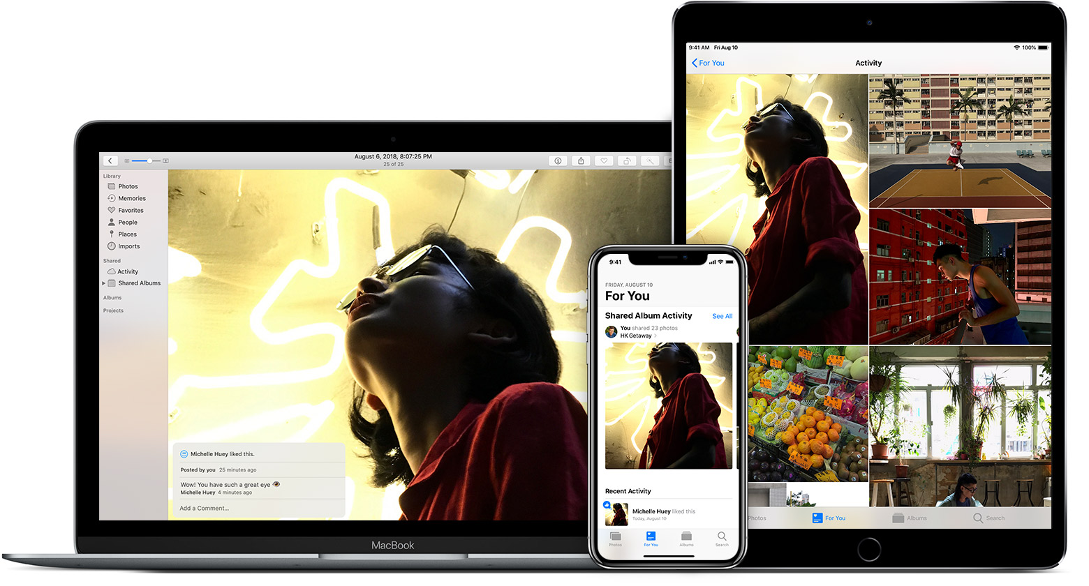 using Shared Albums on Mac, iPhone, and iPad