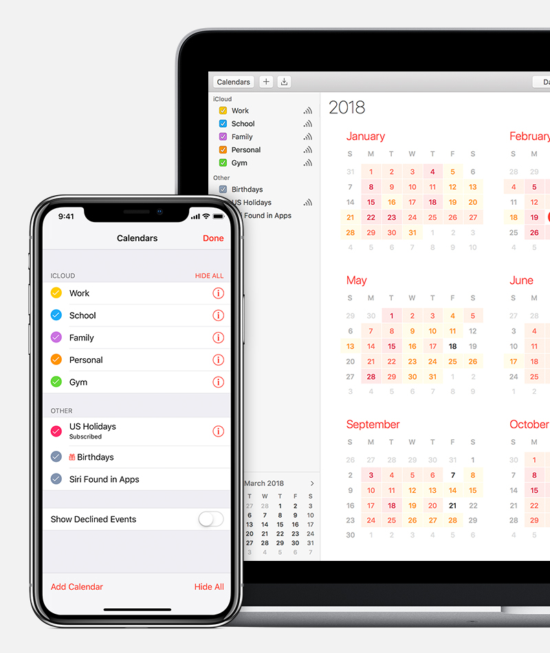 About holiday calendars on iOS and macOS - Apple Support