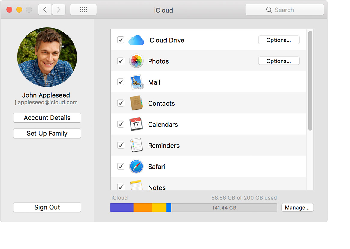 how to set up icloud apple laptop