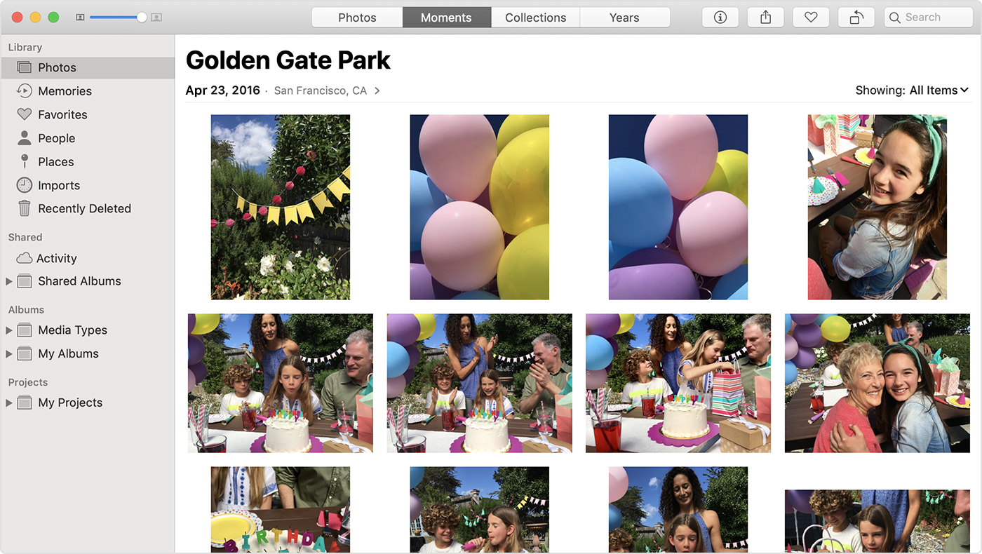 the Photos app on Mac