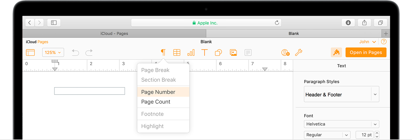 Set up your document in pages apple support for Documents pages icloud