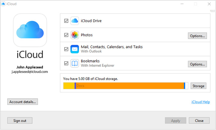 Set up and use iCloud for Windows - Apple Support