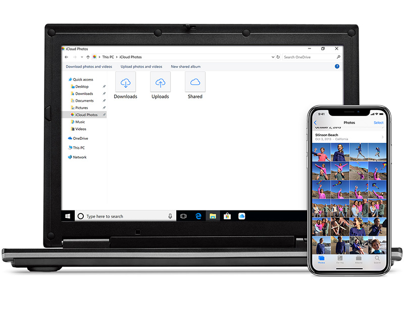 how to download pictures from my iphone to windows 10