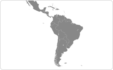 Latin American and the Caribbean map