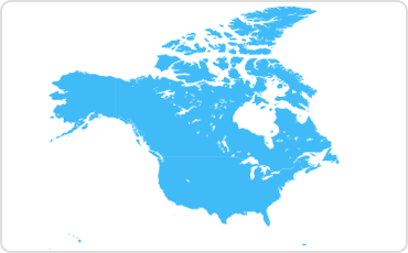The United States and Canada map