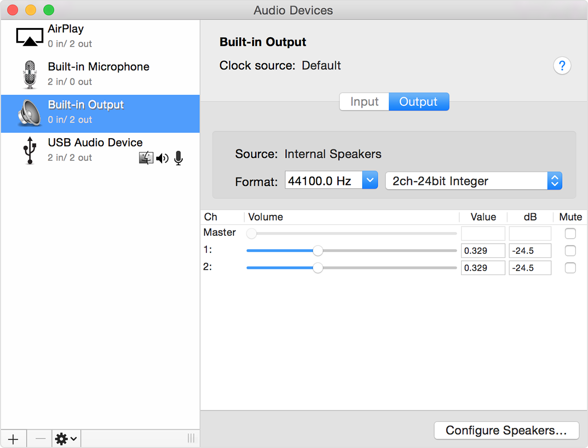 Set up audio devices on iMac (Mid 2014) and later - Apple