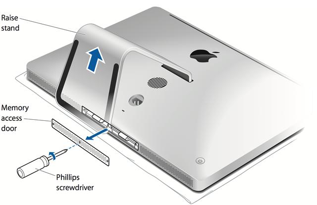 apple z0tr. removing the ram access door apple z0tr