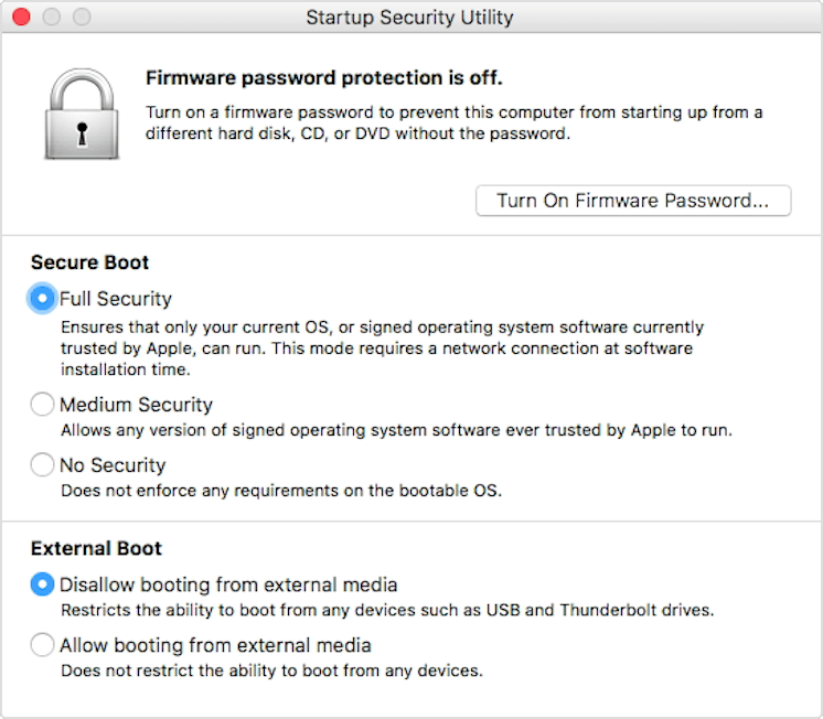 About Secure Boot - Apple Support