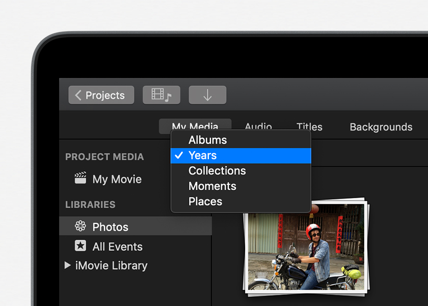 Add photos and videos to your iMovie project - Apple Support