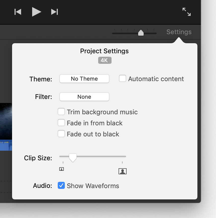Use 4K and 60 frames per second video in iMovie - Apple Support