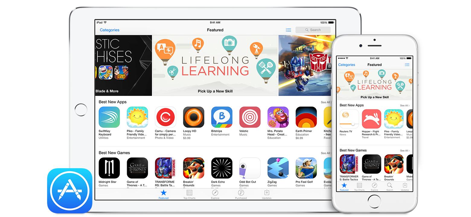 Through the App Store,