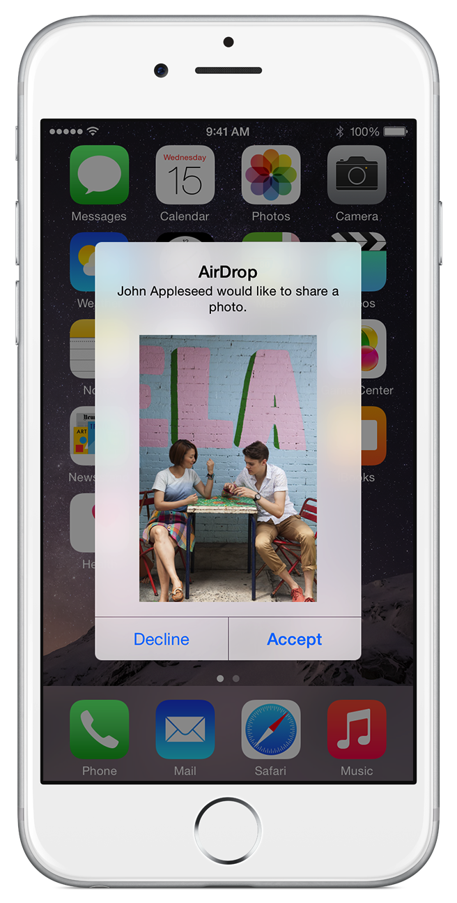 airdrop music from iphone to iphone content with airdrop from your iphone or ipod 18282