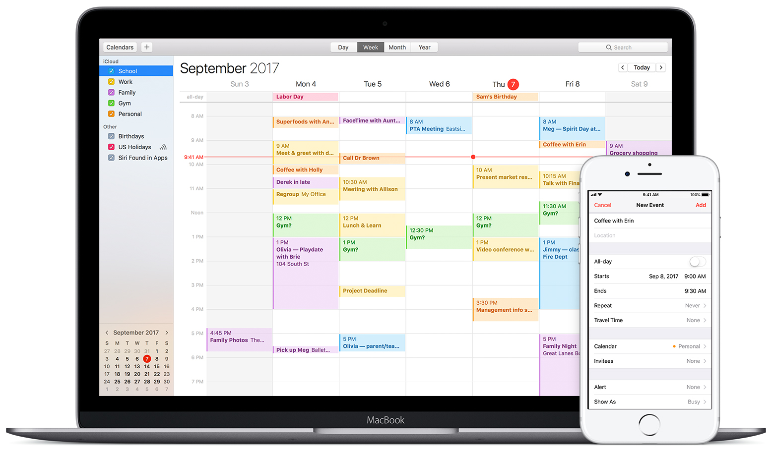 Calendar Apple : How to change calendar color on macbook pro coloring pages