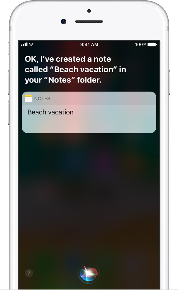 Use notes on your iphone ipad and ipod touch apple support need to take a quick note just ask siri to start a new note then tell siri what you want the note to say biocorpaavc Images
