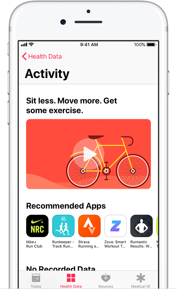 health apps screen