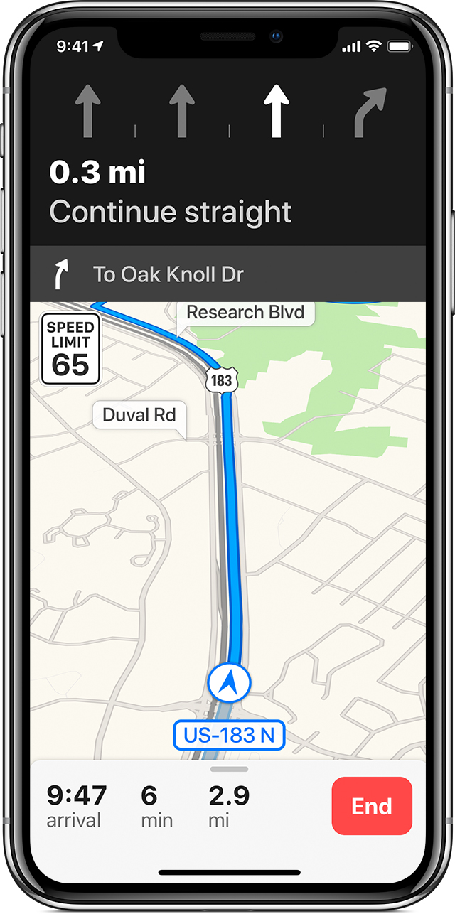 Use Maps on your iPhone, iPad, or iPod touch - Apple Support Direction In Map on
