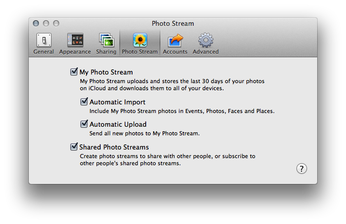 Iphoto photostream not updating
