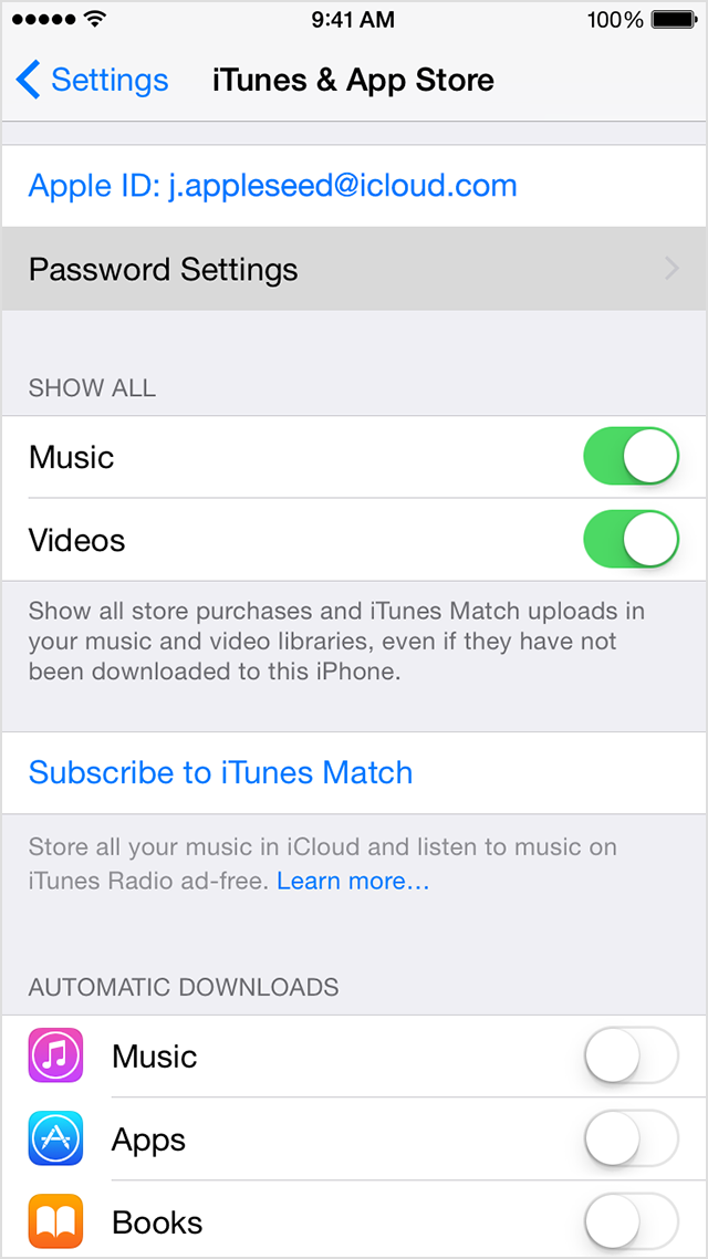 how to turn on touch id for app store