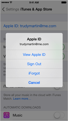 how to change apple id on iphone 6 itunes