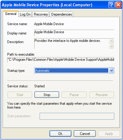 how to restart apple mobile device service on windows 7