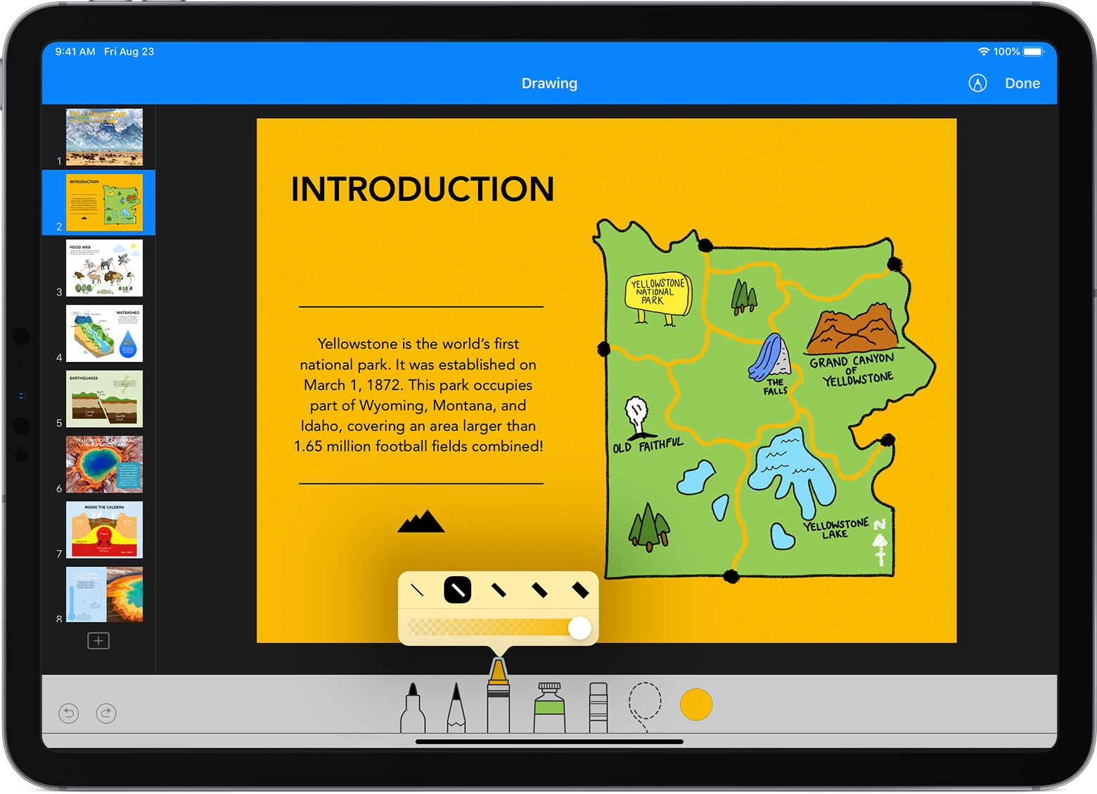 Draw in Numbers and Keynote on your iPad, iPhone, or iPod