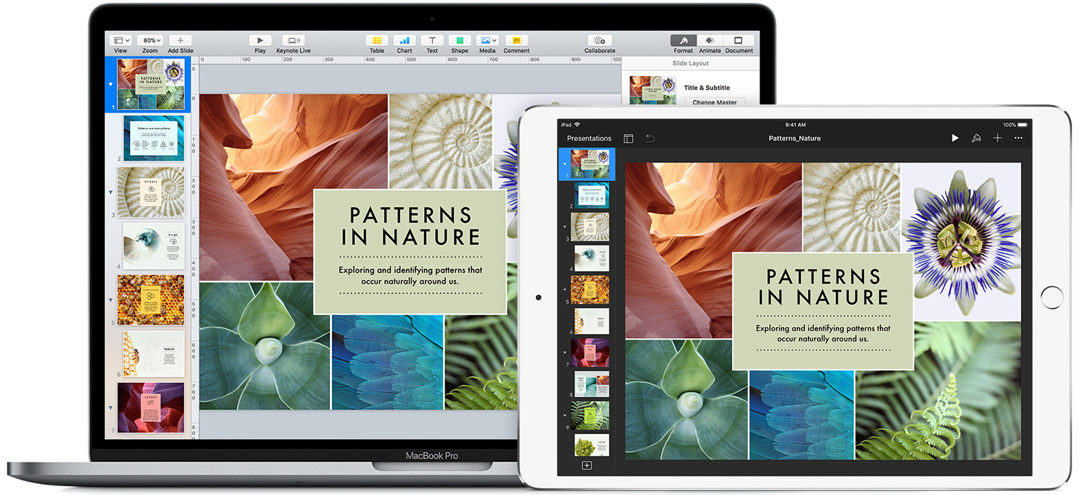 Keynote for Mac and iOS