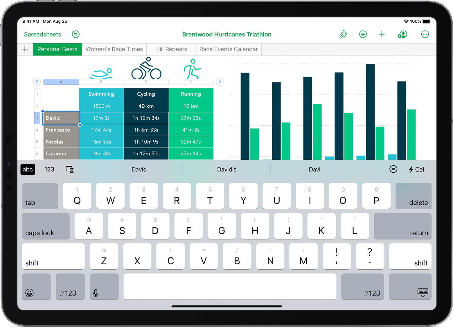 Learn about simplified data entry in Numbers for iPhone, iPad, and iPod  touch - Apple Support