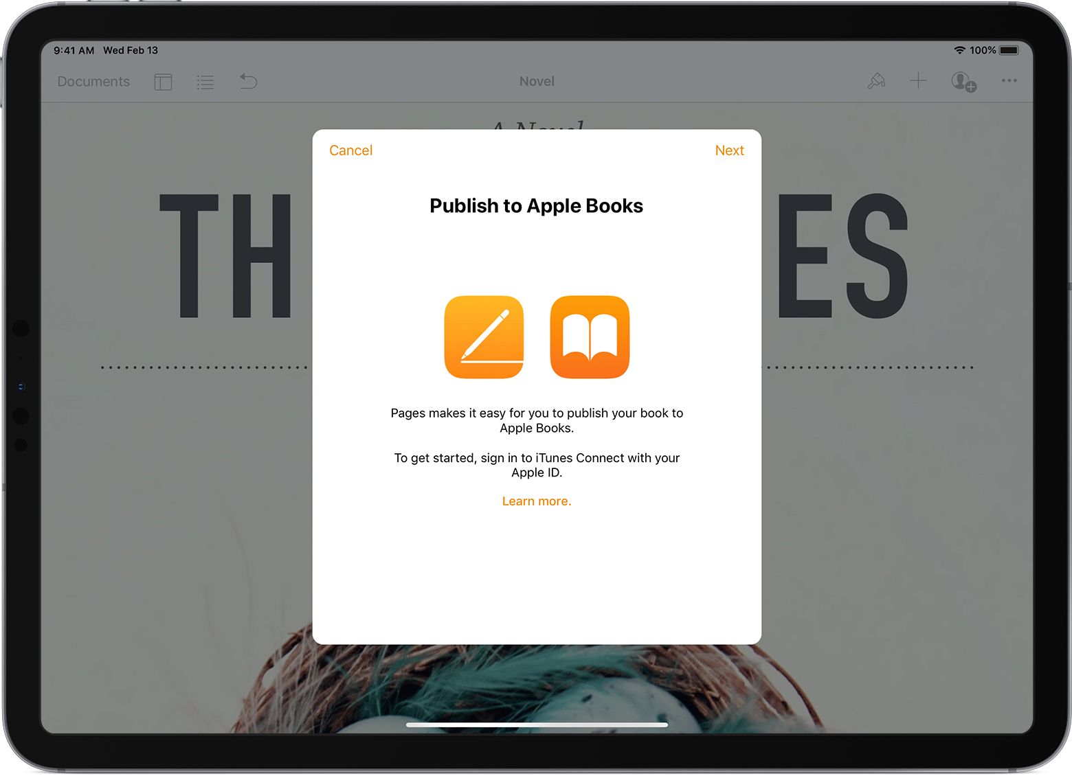 Publish your book with Pages - Apple Support