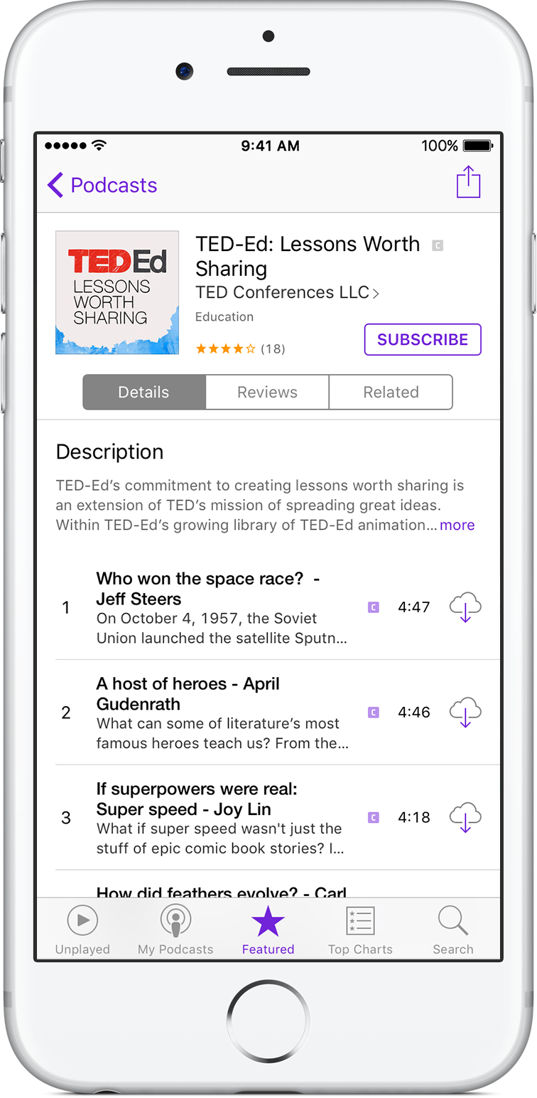 about the podcasts app apple support. Black Bedroom Furniture Sets. Home Design Ideas