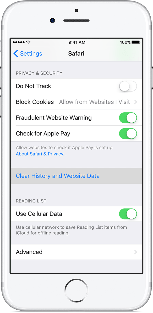 Clear The History And Cookies From Safari On Your Iphone