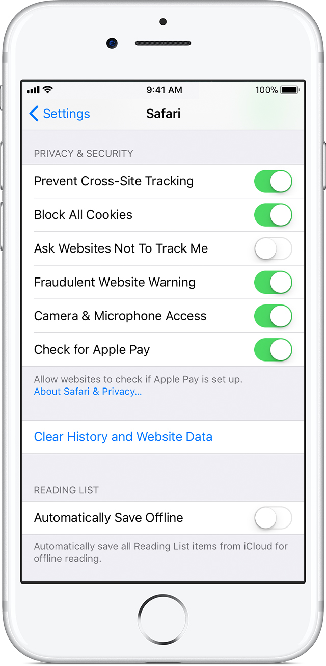 clear the history and cookies from safari on your iphone ipad or