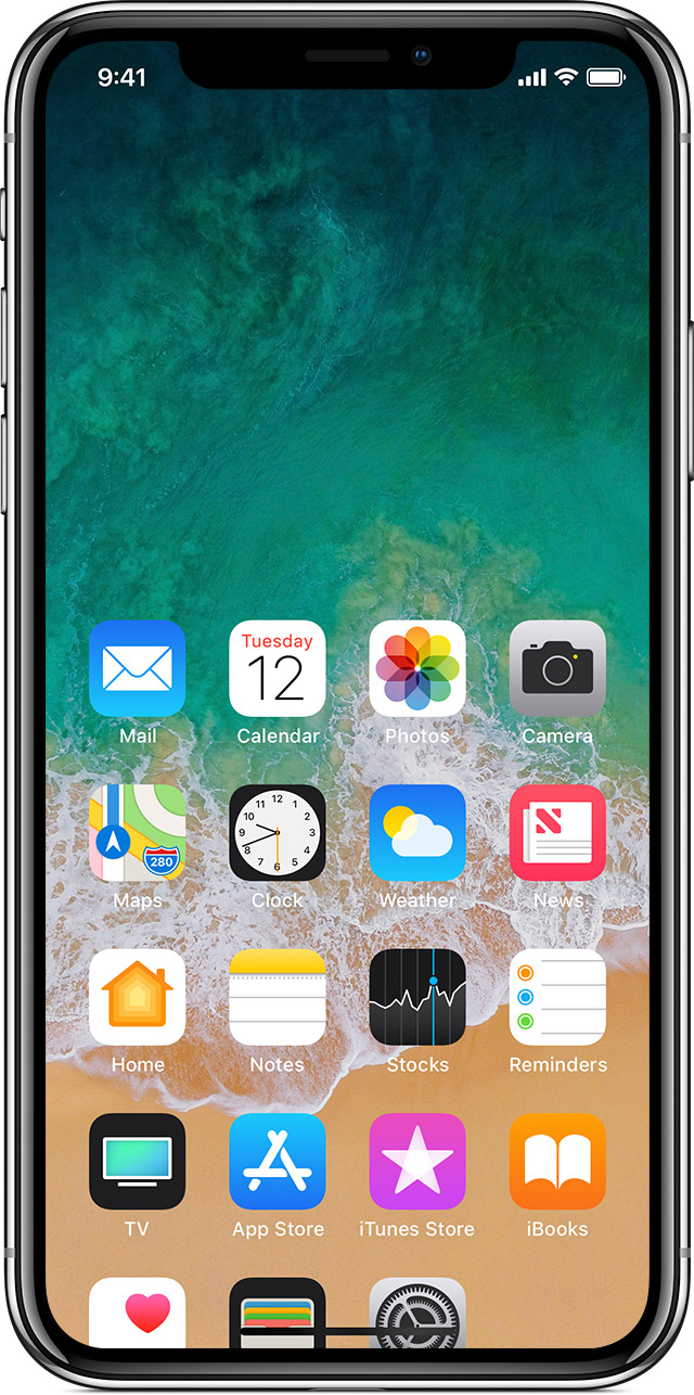 Use gestures to navigate your iphone x apple support reach the top baditri Choice Image