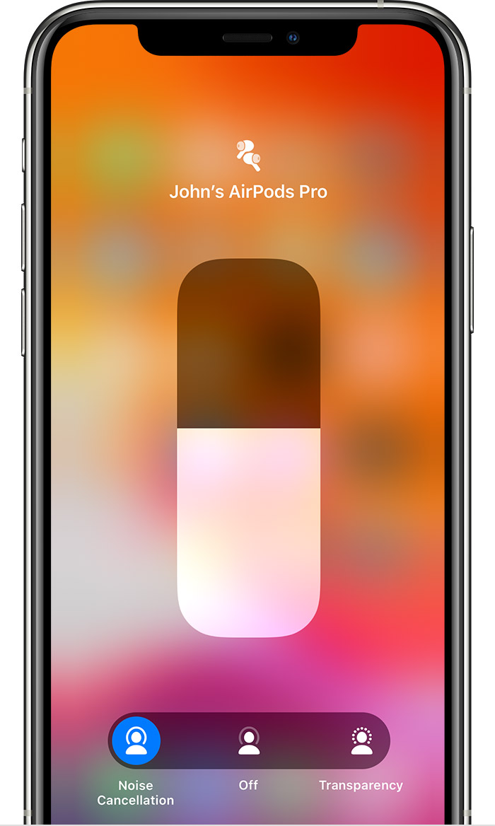 Airpods Pro Active Noise Cancellation And Transparency Mode