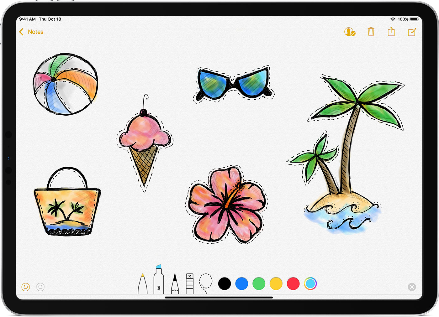 You can use apple pencil to write markup and draw with built in apps and apps from the app store with some apps like notes you can draw and sketch with