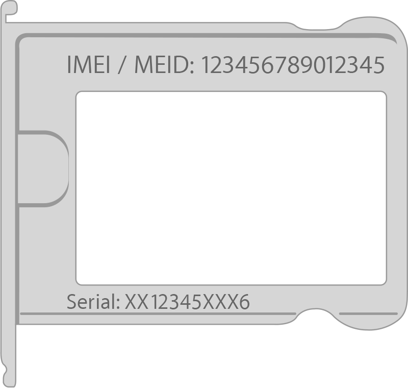 Find the serial number and IMEI/MEID on the SIM tray of your iPhone 3 or iPhone 4 models