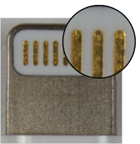 Identificar accesorios con conector Lightning falsificados o